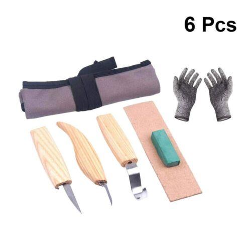 6tlg Schnitzwerkzeug Schnitzmesser Set Holz Schnitzen Messer Löffel Schnitzeisen