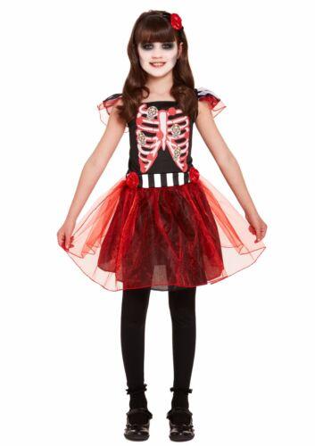 Kids SENORITA DAY OF THE DEAD FANCY DRESS TUTU COSTUME Child Outfit Party UK