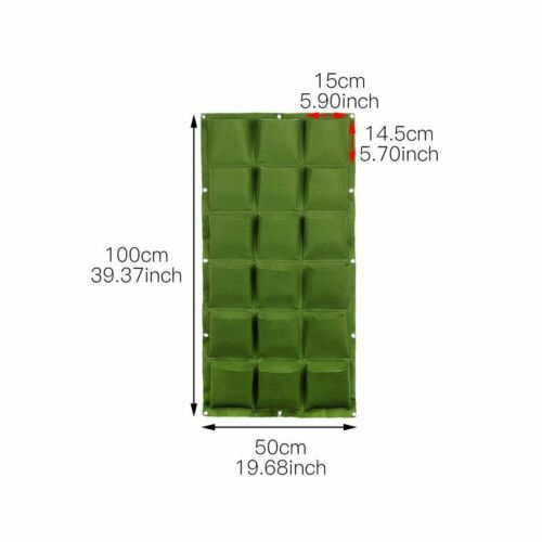4//9//36//49//72 Pockets Wall Hanging Planting Bags Green Plant Grow Planter garden
