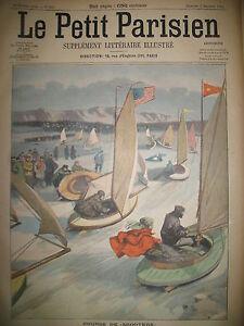 ETATS-UNIS-FIRE-ISLAND-COURSE-SCOOTERS-SUR-GLACE-JOURNAL-LE-PETIT-PARISIEN-1906