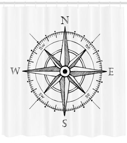 Windrose Wegbeschreibung Kompass Duschvorhang