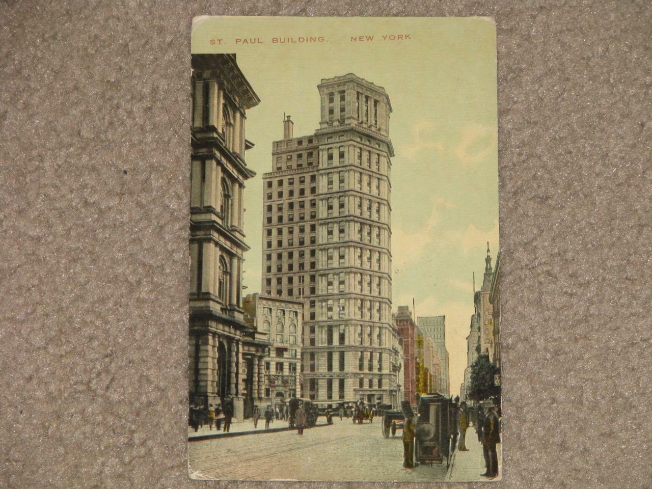 St. Paul Building, New York, N.Y. 1910, used vintage card