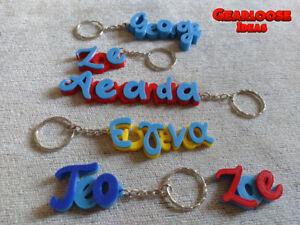*Personalised Keyring - Keychain - School Bag - Name Tag - Book Bag - 3D Printed