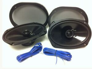 Details about 6X9 Car Speakers: Rear Deck SHALLOW THIN MOUNT 2-way on