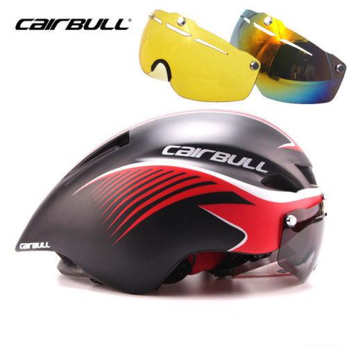 MTB Road Bike Helmet Bicycle Triathlon Sport Cycling Helmet With Goggles Visor