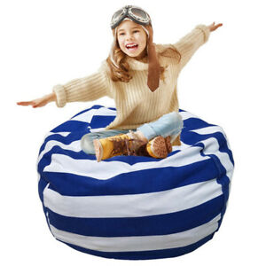 Bean-Bag-Chair-Stuffed-Animal-Storage-Cotton-Canvas-Plush-Toy-Organizer-Striped