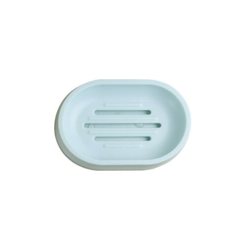 Double Layer Silicone Soap Dish Draining Storage Tray Holder Container Bathroom