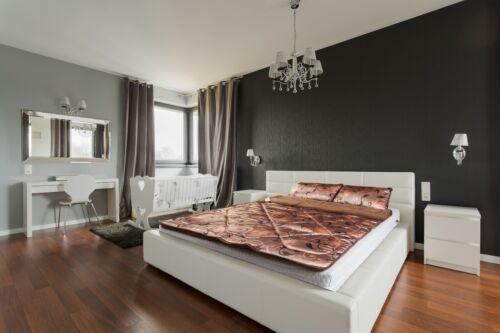 100% MERINO WOOL CAMEL DUVET BED COVER - NATURAL ALL SIZES BROWN OVER BLANKET