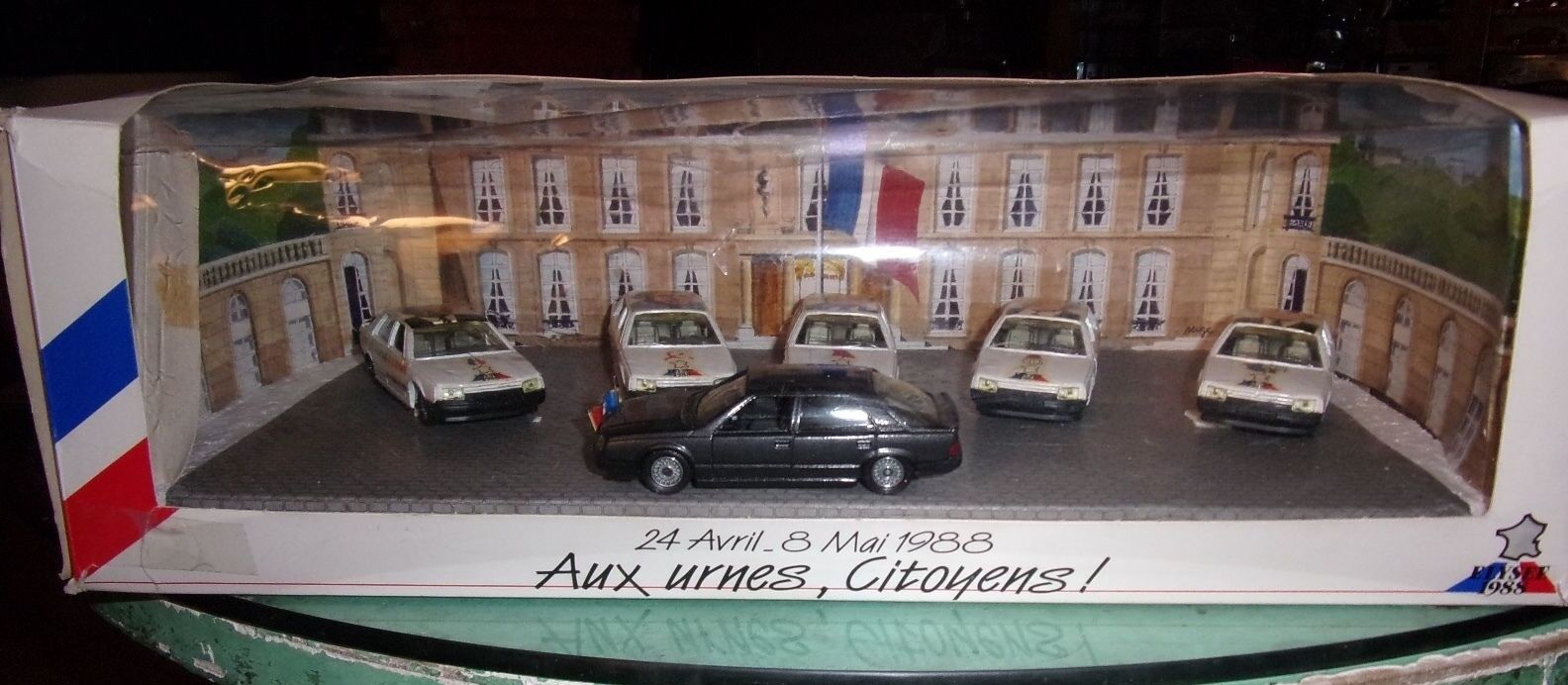 SOLIDO FRANCE 1 43 COFFRET ELYSEE 1988 AUX URNES CITOYENS  6 X RENAULT 25