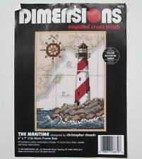 Dimensions The Maritime Lighthouse Counted Cross Stitch Kit #6679 Coastal Beach