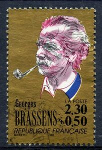 Brillant Stamp / Timbre France Oblitere N° 2654 Georges Brassens /