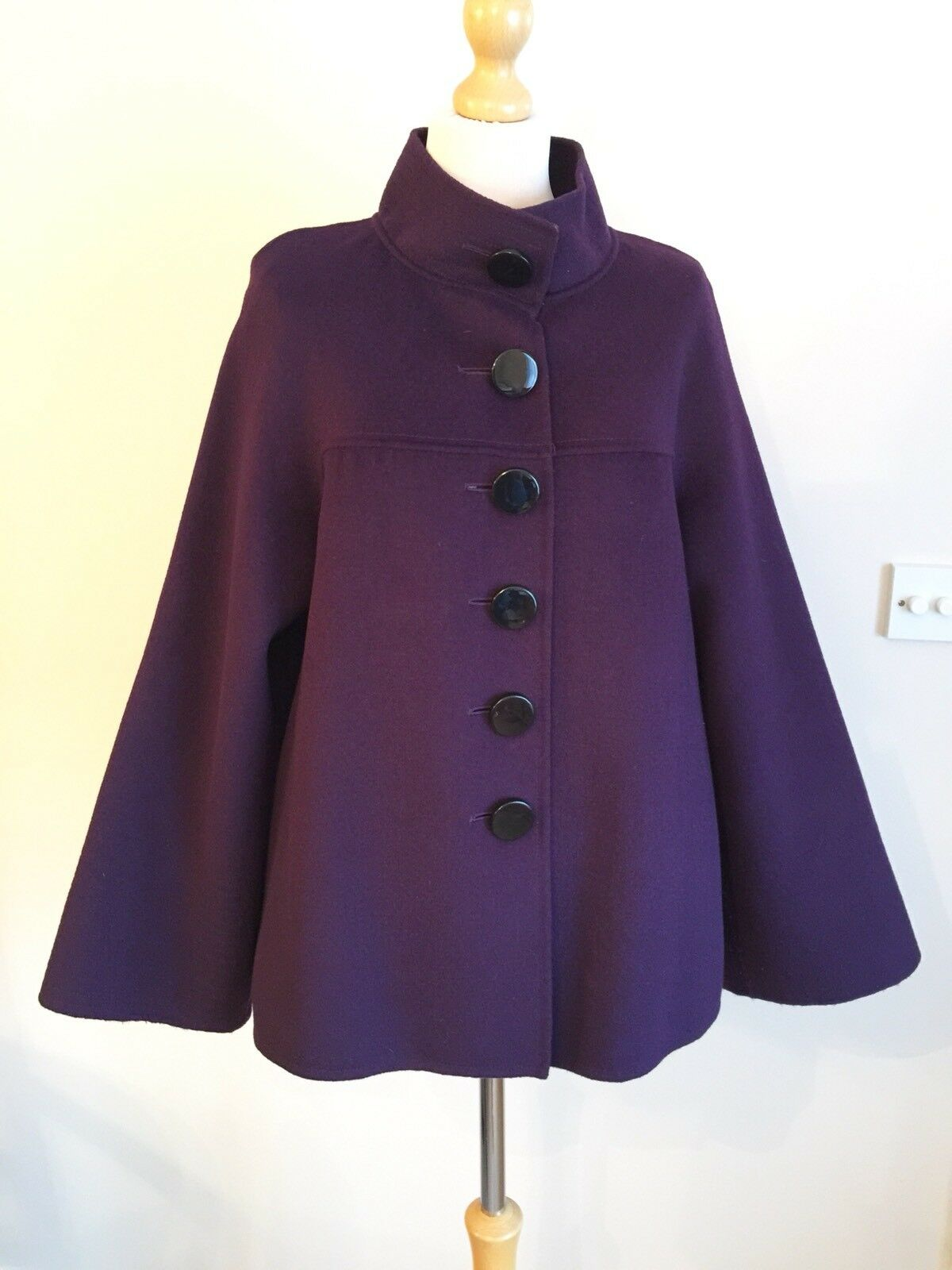 Jaeger purple Purple Angora Cashmere And Wool Blend Coat Size 14