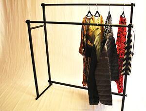 Kleiderstander 2 Fach Schlicht Elegant Stabile Kleiderstange Garderobenstange Ebay