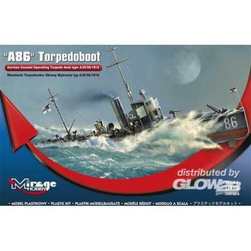 Mirage Hobby 1:350 A 86 German Torpedoboat A//III Class