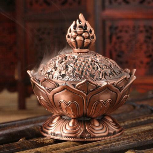 Gold//Bronze China Lotus Räucherschale Räuchergefäß Weihrauchschale Weihrauchfass