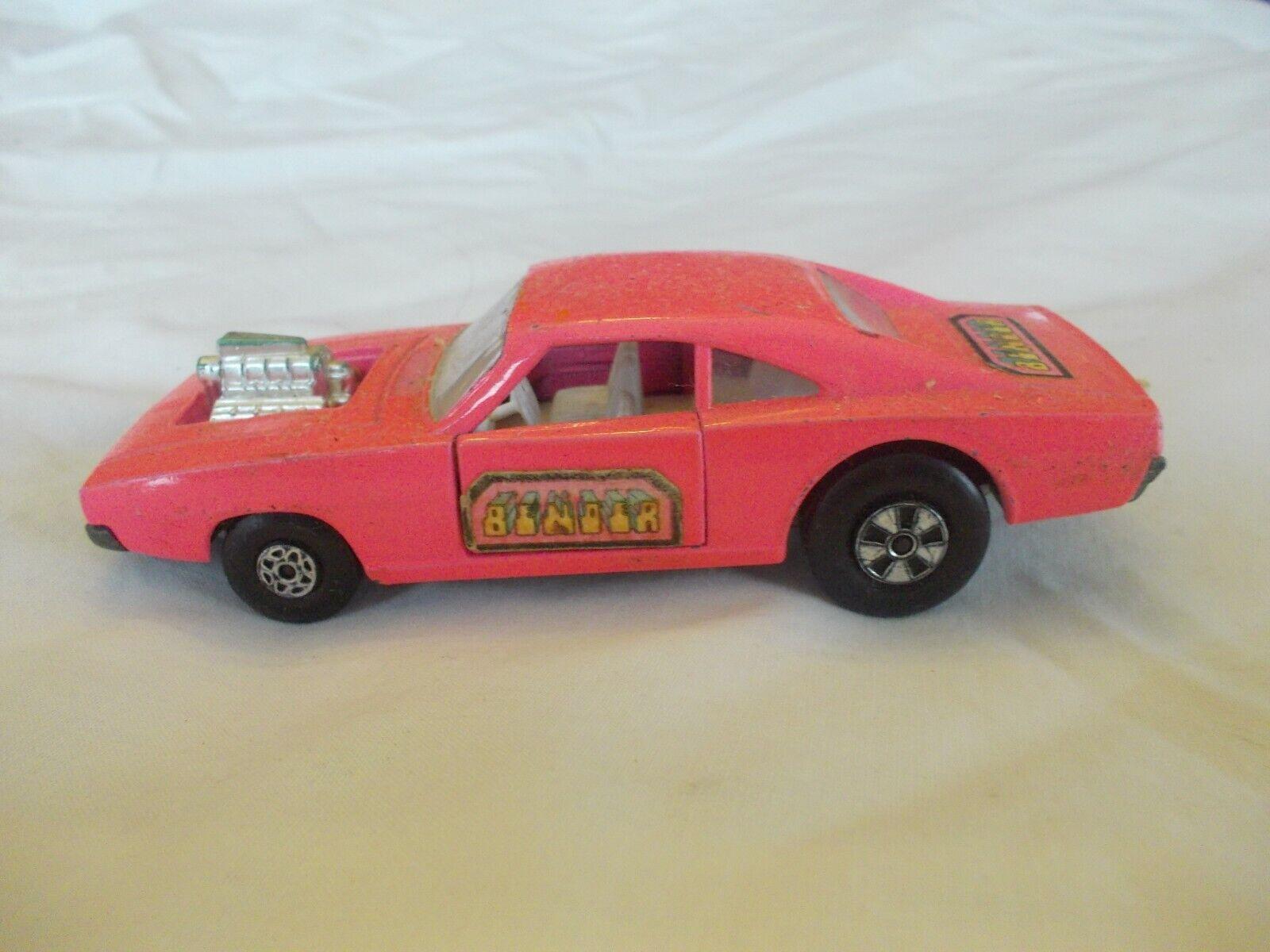 Vintage Lesney Matchbox Dodge HOT PINK Dragster K-22 Speed Kings RARE