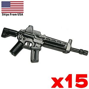 LEGO-Guns-Type-91-Assault-Rifle-Lot-of-15-Army-Modern-SWAT-Military-Weapon-Pack