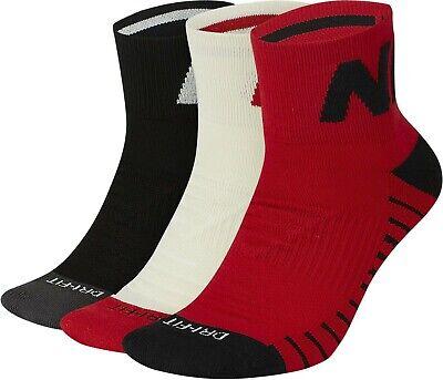 3 pairs Nike EVERYDAYMAX Ankle Socks Dri-FIT SX7940 Red White Black, Mens  8-12 193145897809 | eBay