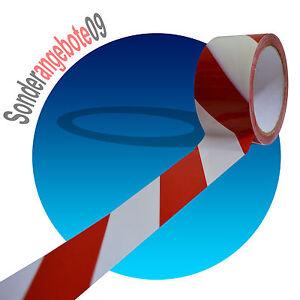 66-Meter-Klebeband-Markierungsband-50mm-Signalband-Warnband-rot-weiss-Rotweiss