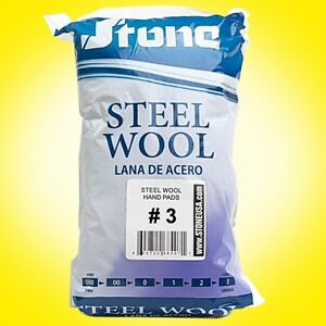 12pc Steel Wool Hand Pads #3 - Coarse - Lana de Acero- Buy more than 1 and SAVE!
