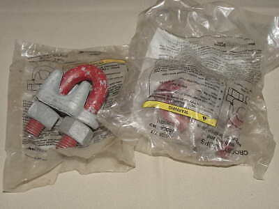 "1010211 *NEW* CROSBY 7//8/"" DUAL SADDLE WIRE ROPE CLIP"