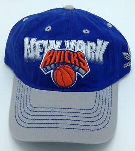 2c754bace4f NBA New York Knicks Adidas Adult Slouch Curved Brim Adjustable ...