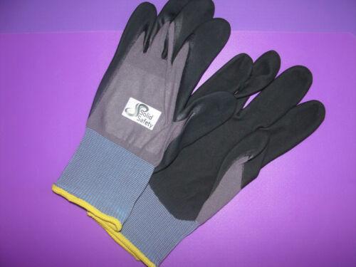1 Paar Arbeits Schutzhandschuhe Solid Safety Tough Gr 10
