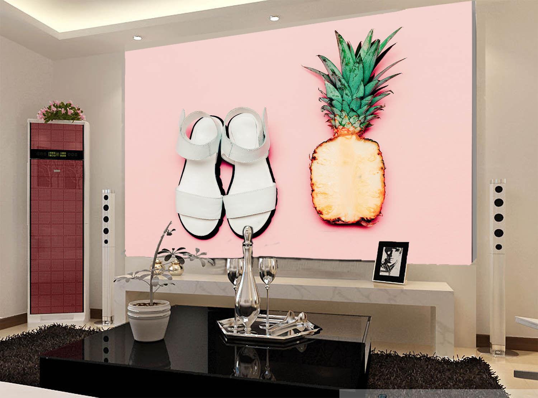 3D Rosa Ananas Sandalen 7 Tapete Wandgemälde Tapete Tapeten Bild Familie DE    Lass unsere Waren in die Welt gehen    New Product 2019    Clever und praktisch