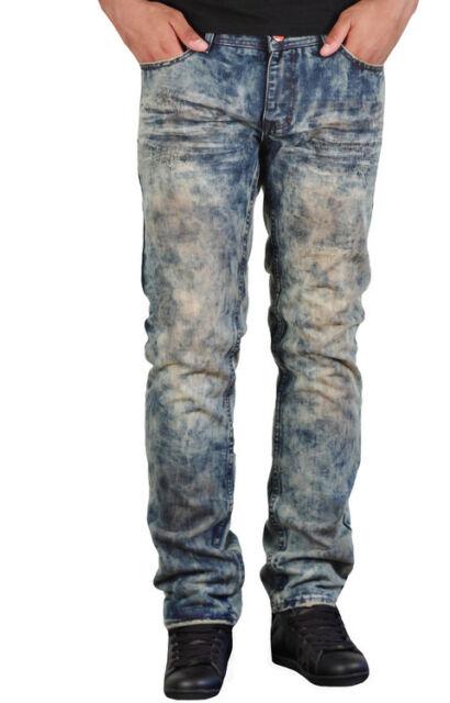691ee0e7fe39 New Men s Jordan Craig Slim Fit Wrinkle Wash Raphael Vintage Jeans Size  36x34