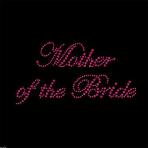 Hot Pink Rhinestone Iron on T Shirt Design Mother of the Bride XRST045