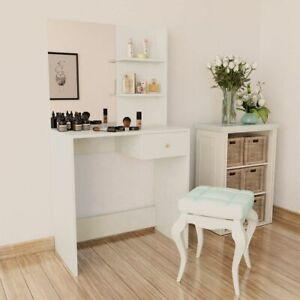 vidaXL-Kaptafel-Spaanplaat-Wit-Kaptafels-Slaapkamertafel-Tafels-Toilettafel