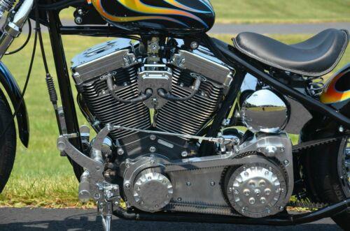 "Polished Ultima 2/"" Old School Open Belt Drive Primary Harley Softail Bobber FXST"