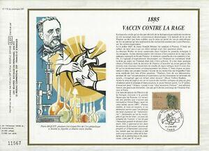 Foglio-CEF-1er-Giorno-Francia-1885-Vaccino-Contro-Rage-1985