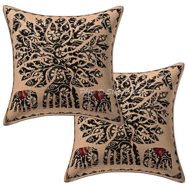Dorm Decor Tree Of Life Sofa Cushion Cover Applique Pillow Case Cover