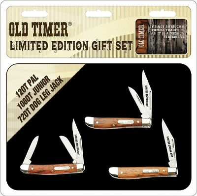 Schrade Old Timer 3 Pc Gift Tin OTP17-26CPBR