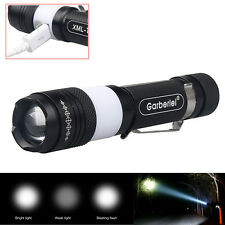 USB Charge 6000LM LED Flashlight 3 Modes Zoomable CUB Torch Light With USB Cable