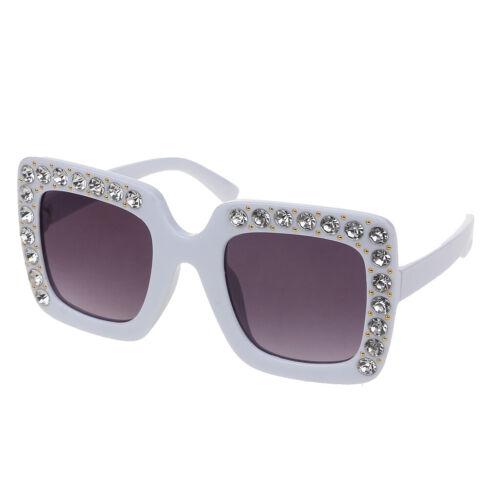 Luxury Rhinestone Kids Sunglasses Square Sun Glasses Children Baby Sunglasse