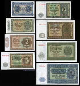 Satz-1948-DDR-50-Pf-100-Mark-UNC-KASSENFRISCH