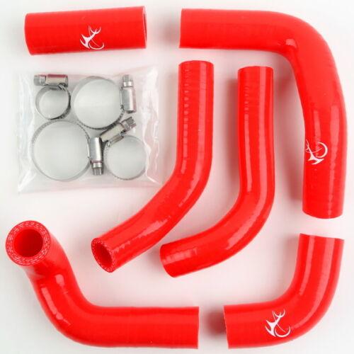 Red Silicone Radiator Hose For Husqvarna HVA TE//TC400//450//510 02-11 03 04 05 06