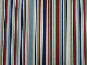 Image Is Loading Marson Funky Stripe Blue Red Designer Curtains