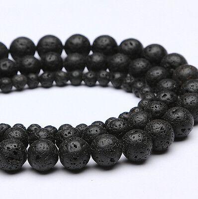8mm 10mm 12mm Black Stripe Agate Onyx Round Gemstone Loose Beads 15''