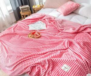 Comfort-Classics-Soft-Coral-Fleece-Flannel-Plush-Blanket-Throws-Queen-King-Size