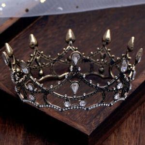Vintage-Baroque-Pageant-Party-Wedding-Bridal-Crystal-Queen-Crown-Tiaras-Prom