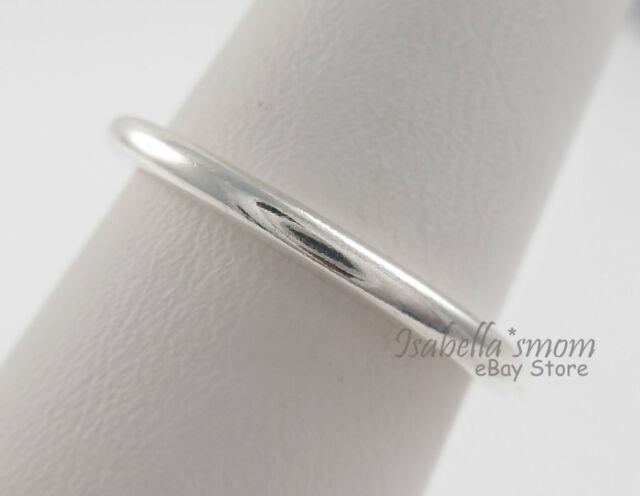 2e517211a QUIETLY SPOKEN Genuine PANDORA Plain/Smooth STACKABLE Band Ring 9/60 190616  NEW