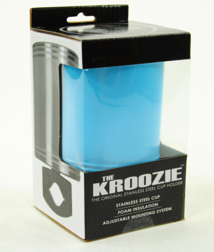 KROOZIE CUPS HYDRATION 2.0 STEEL BABY BLUE BICYCLE DRINK CUP HOLDER