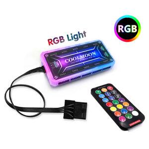 Details About Rgb Fan Controller Led Light Sync Hub 1 10 Rf Remote Control Diy Computer Case