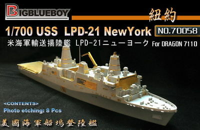 70058 Photo-Etched PE 1//700 USS New York LPD-21 LPD21 for DRAGON
