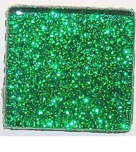 1 inch Mosaic Tiles Silver Glitter Tiles 25 Metallic Glass Tiles