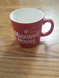 Details About Vintage 1980s Maxwell House Instant Coffee Red Gold Advertising Cup Mug 12 Oz