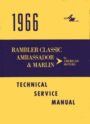 OEM Repair Maintenance Shop Manual Bound Amc Ambassador, Classic, Marlin 1966